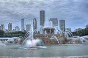 Chicago Fountain Prints - Buckingham North Print by David Bearden