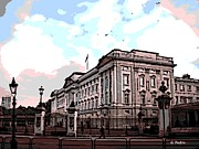 Buckingham Palace Digital Art Metal Prints - Buckingham Palace Metal Print by George Pedro