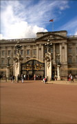 Kate Middleton Photo Framed Prints - Buckingham Palace Framed Print by John Colley