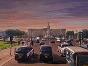 Buckingham Palace Digital Art Prints - Buckingham Palace Print by Nop Briex