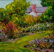 House Pastels - Bucks County Garden House by Bob Richey