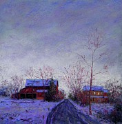 Pennsylvania Pastels - Bucks County Winter Twilight by Bob Richey