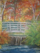 Waterfall Pastels Posters - Bucks Garden  Poster by Susan Haiken