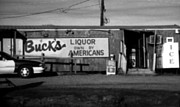 Toy Shop Posters - Bucks Liquor Own By Americans Poster by Doug  Duffey