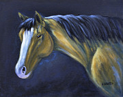 Side View Painting Framed Prints - Buckskin Blues Framed Print by Kenny Francis