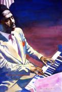 Music Legends Prints - Bud Powell Piano Bebop Jazz Print by David Lloyd Glover