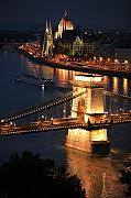 Hungarian Prints - Budapest at dusk Print by Joe Burns