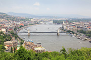 Hungary Travel Photos - Budapest With Chain Bridge by Romeo Reidl