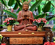 Buddhist Art - Buddha Enlightenment - The Sacred Garden by Karon Melillo DeVega