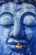 Ancient Indian Art Metal Prints - Buddha face Metal Print by Anek Suwannaphoom