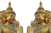 Background Sculpture Prints - Buddha image  Print by Panyanon Hankhampa