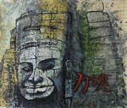 Angkor Paintings - Buddha in Angkor Wat by Paulina Garoa