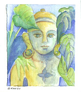 Buddha Drawing Prints - Buddha Print by Karin Zukowski