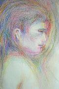 Sacred Pastels Originals - Buddha by Laurie Parker