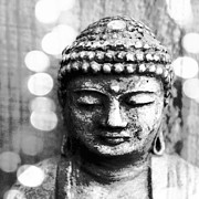 Namaste Metal Prints - Buddha Metal Print by Linda Woods