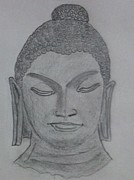 Buddha Sketch Prints - Buddha Print by Monika