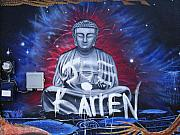 Mural Photos - Buddha Moves On by Chuck Taylor