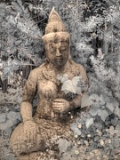 Buddha Statue Prints - Buddha Nature Print by Jane Linders