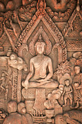 Interior Scene Art - Buddha by Niphon Chanthana