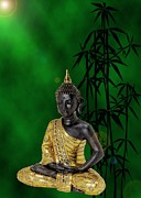 Relaxen Prints - Buddha of knowledge Print by Sandra Beikirch