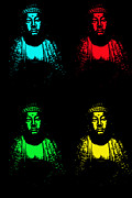 Asian Pop Culture Prints - Buddha Pop Art Print by One Rude Dawg Orcutt