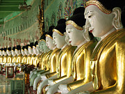 Religious Art Photo Metal Prints - Buddha Row Metal Print by Nina Papiorek