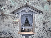 Buddha Statue Prints - Buddha Shrine Print by Jane Linders