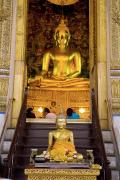Religious Art Photos - Buddha sitting on altar by Ray Laskowitz - Printscapes