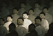 Religious Characters And Scenes Photos - Buddha Statues In The Cave Temple by Martin Gray