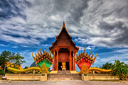 Shrine Prints - Buddha Temple Print by Adrian Evans