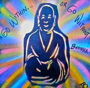 Free Speech Paintings - Buddha by Tony B Conscious