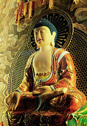 Sitting Buddha Posters - Buddha Tooth Relic Temple, Singapore Poster by Photo By William Cho