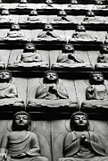 Wall Sculpture Posters - Buddha Wall, Korea Poster by © Colin Roohan. All Rights Reserved.