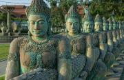 Siem Reap Posters - Buddhas All In a Row Poster by Bill Bachmann - Printscapes