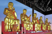 Gold Leaf Prints - Buddhas Delight - Representations of Buddhism Print by Christine Till