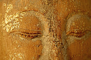 Buddha Photo Metal Prints - Buddhas Eyes Metal Print by Julia Hiebaum