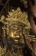 Verticals Prints - Buddhist Deity - Todaiji Temple Japan Print by Craig Lovell