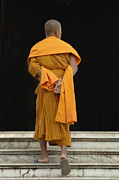 Buddhist Monk Framed Prints - Buddhist Monk 1 Framed Print by Bob Christopher