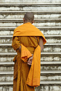 Buddhist Monk Posters - Buddhist Monk 2 Poster by Bob Christopher