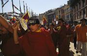 Demonstrations Art - Buddhist Monks And Nuns Wage A Protest by Maria Stenzel