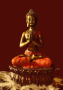 Buddha Digital Art Posters - Buddhist Statue  Poster by James Granberry
