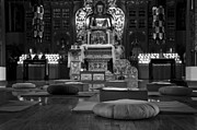 Budhist Prints - Buddhist Temple Woodstock Print by Design Remix