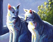 Domestic Animals Paintings - Buddies by Pat Burns