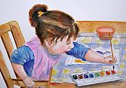 Granddaughter Posters - Budding Artist Poster by Marsha Elliott