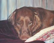 Setters Prints - Buddy Print by Elizabeth  Ellis
