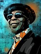 African-american Painting Posters - Buddy Guy Poster by Paul Sachtleben