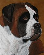 Boxer  Drawings Prints - Buddy Print by Lori DeBruijn