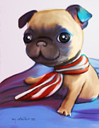 Catia Cho Metal Prints - Buddy the Pug Metal Print by Catia Cho