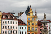 Townhouses Photos - Budweis - Pearl of Bohemia - Czech Republic by Christine Till