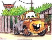 Autos Drawings - Buena Sonrisa by Cleofas Orozco Blancarte